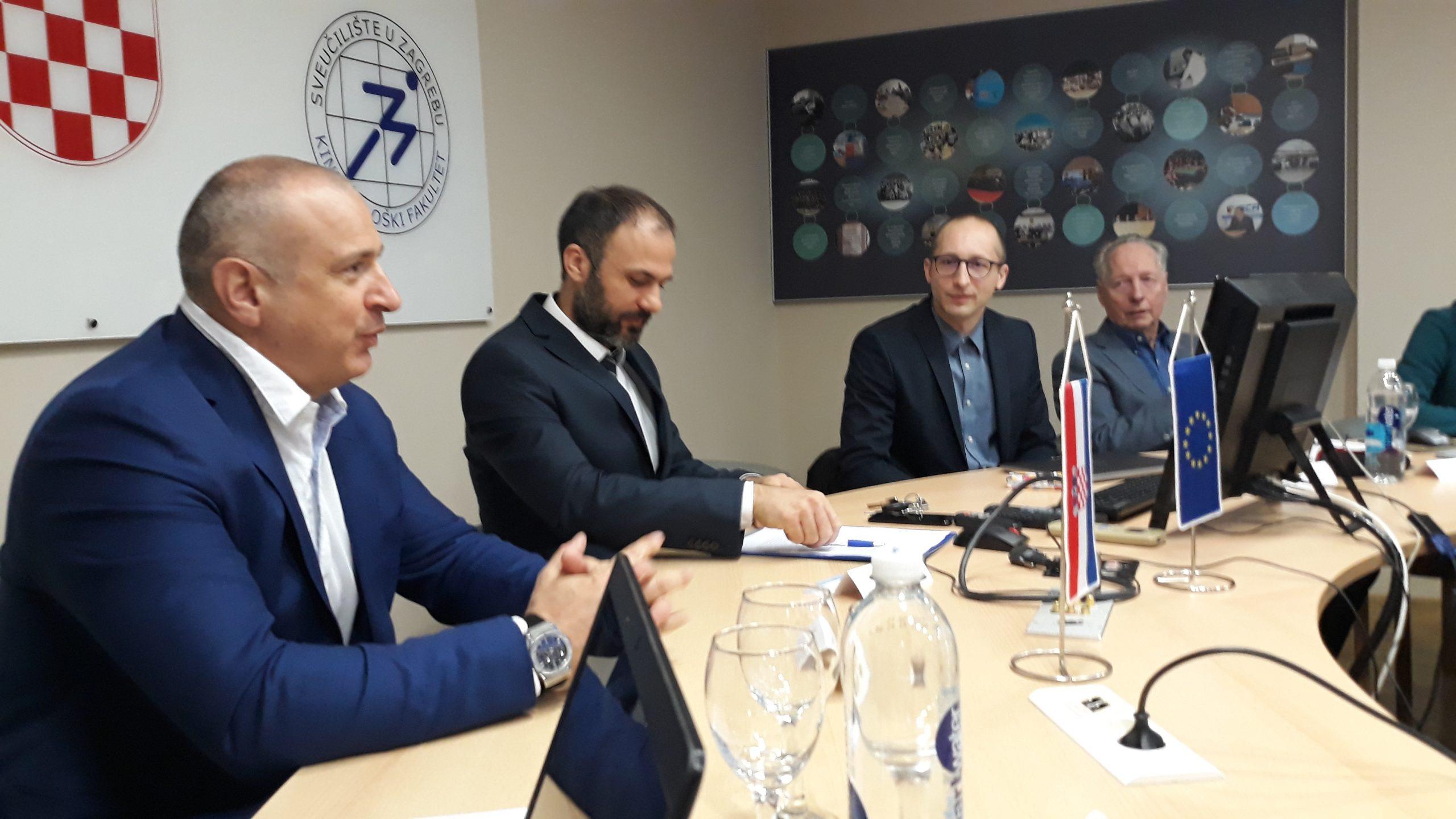 2nd from left prof. Danijel Jurakic, on his left prof. Zeljko Pedisic